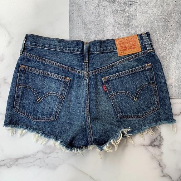 9cf47526 Levi's Shorts   Levis Denim 501 Style Button Fly Fray Hem   Poshmark